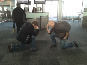 Tebowing in the Airport